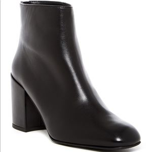 Bacardi Black Leather Ankle Boots